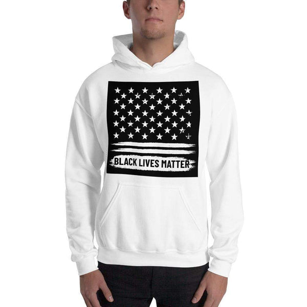 Black Lives Matter Black lives with black grunge background Unisex Hoodie Political Clothing