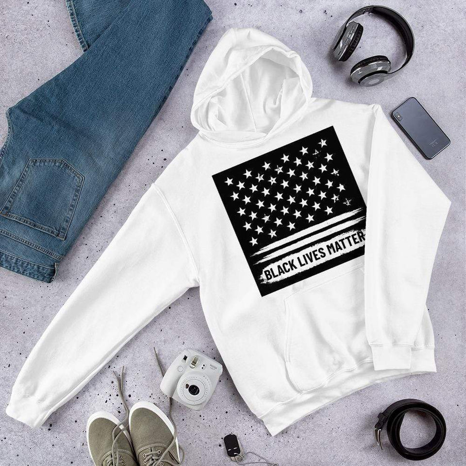 Black Lives Matter Hoodie White / S Political-Activist-Socialist-Fashion -Art-And-Design