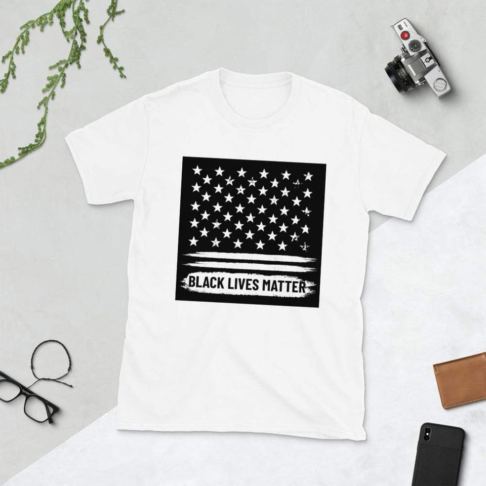 Black Lives Matter T-Shirt White / S Political-Activist-Socialist-Fashion -Art-And-Design