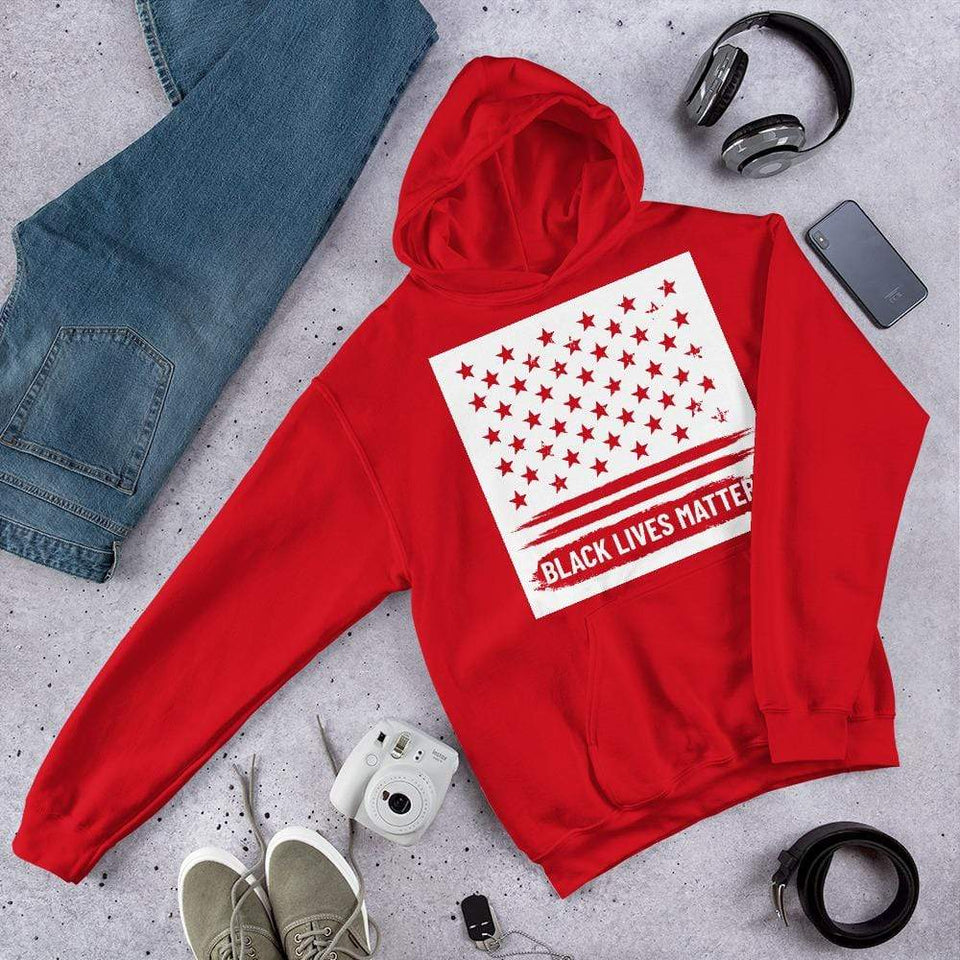 BLM Hoodie Red / S Political-Activist-Socialist-Fashion -Art-And-Design