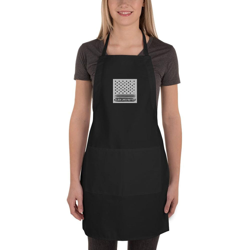 BLM Embroidered Apron Political-Activist-Socialist-Fashion -Art-And-Design