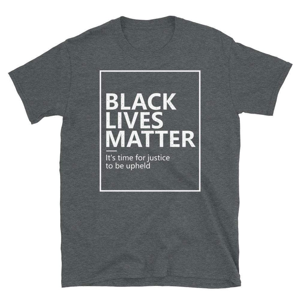 Black Lives Matter T-Shirt Dark Heather / S Political-Activist-Socialist-Fashion -Art-And-Design