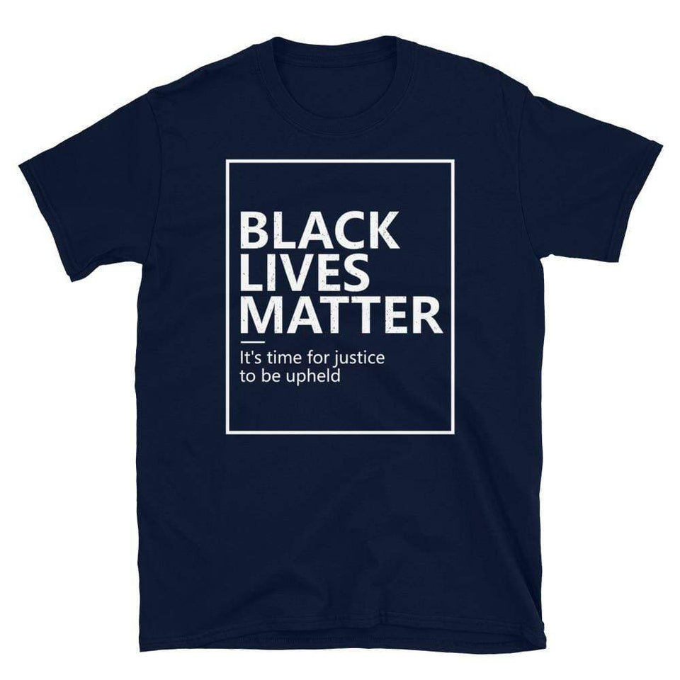Black Lives Matter T-Shirt Navy / S Political-Activist-Socialist-Fashion -Art-And-Design