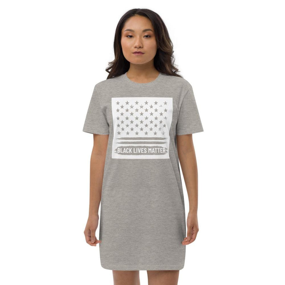 BLM Organic t-shirt dress Political-Activist-Socialist-Fashion -Art-And-Design