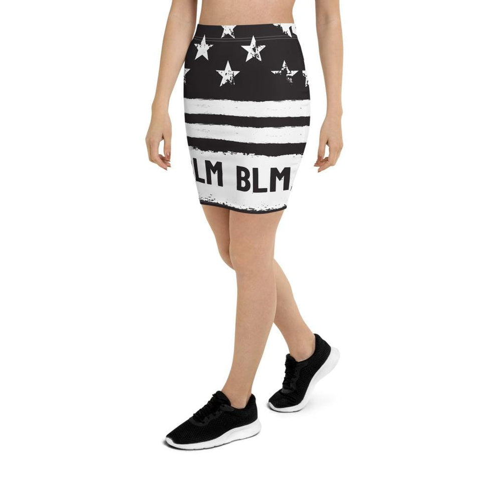Black Lives Matter Pencil Skirt Political-Activist-Socialist-Fashion -Art-And-Design