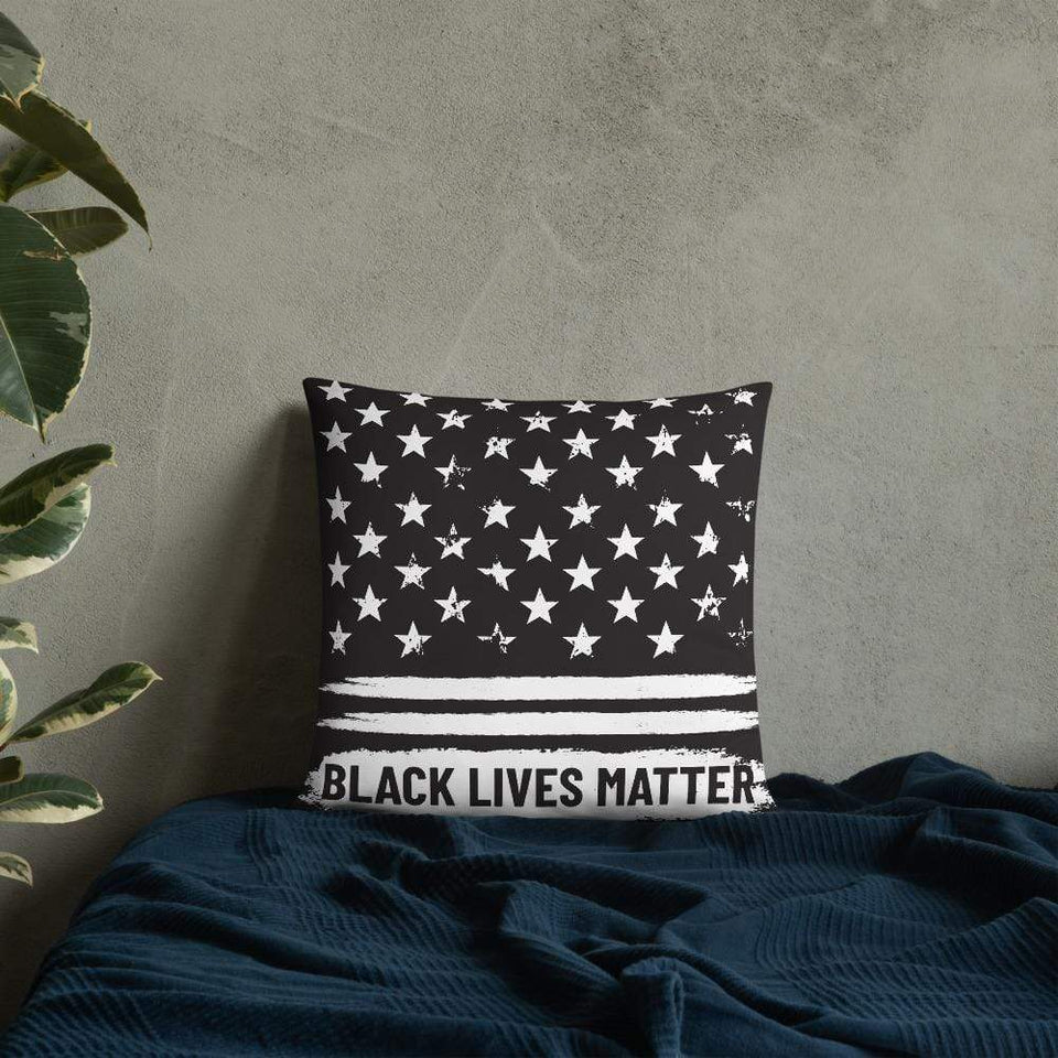 Black lives matter Pillow Political-Activist-Socialist-Fashion -Art-And-Design