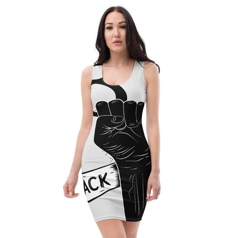 Black Lives Matter Protest Dress XS Political-Activist-Socialist-Fashion -Art-And-Design