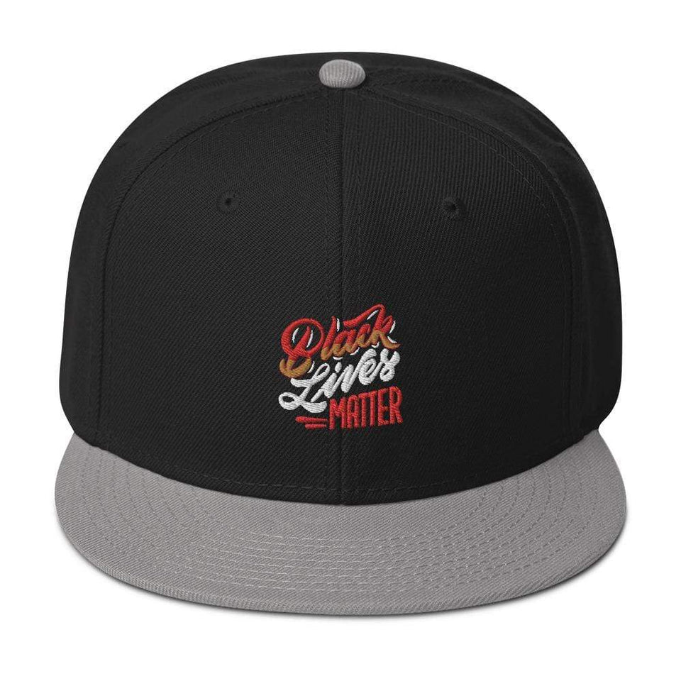 Black Lives Matter Snapback Hat Gray / Black / Black Political-Activist-Socialist-Fashion -Art-And-Design