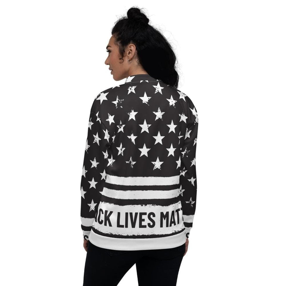 BLM Bomber Jacket Political-Activist-Socialist-Fashion -Art-And-Design