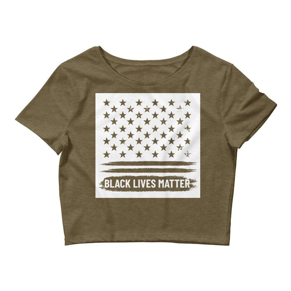 Black Lives Matter Crop Tee Political-Activist-Socialist-Fashion -Art-And-Design