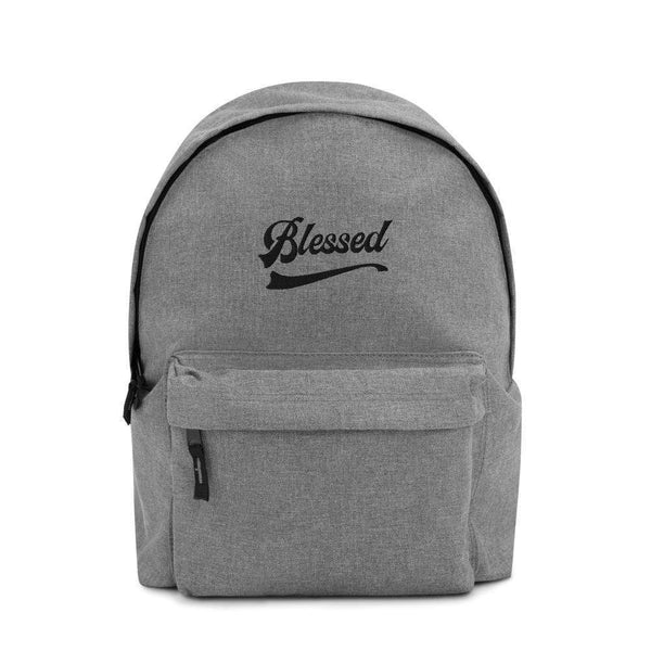Blessed Societal Embroidered Backpack 100% polyester 600D Political Clothing