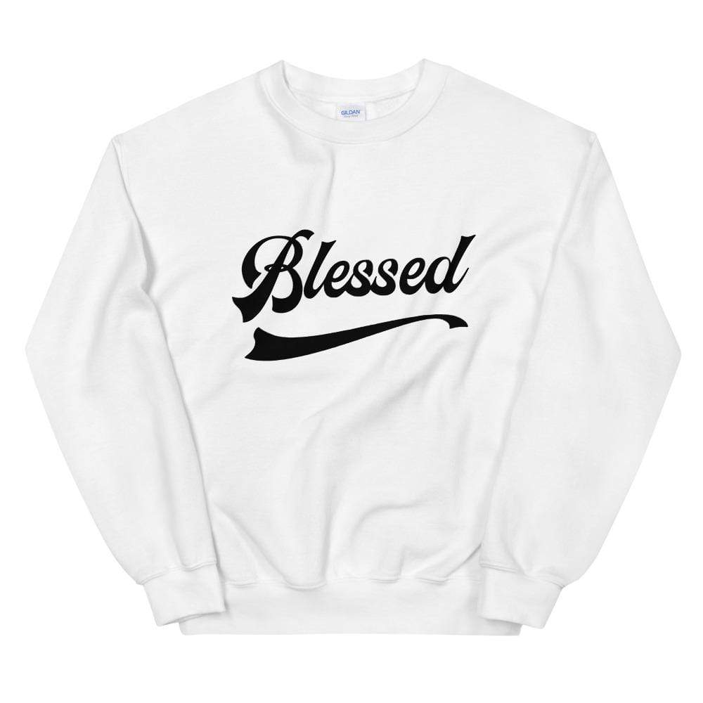 Blessed Unisex Sweatshirt 50% cotton, 50% polyester White / S Political Fashion
