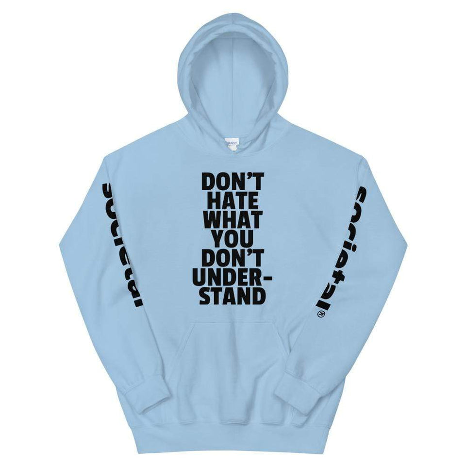 BLM Hoodie Light Blue / S Political-Activist-Socialist-Fashion -Art-And-Design