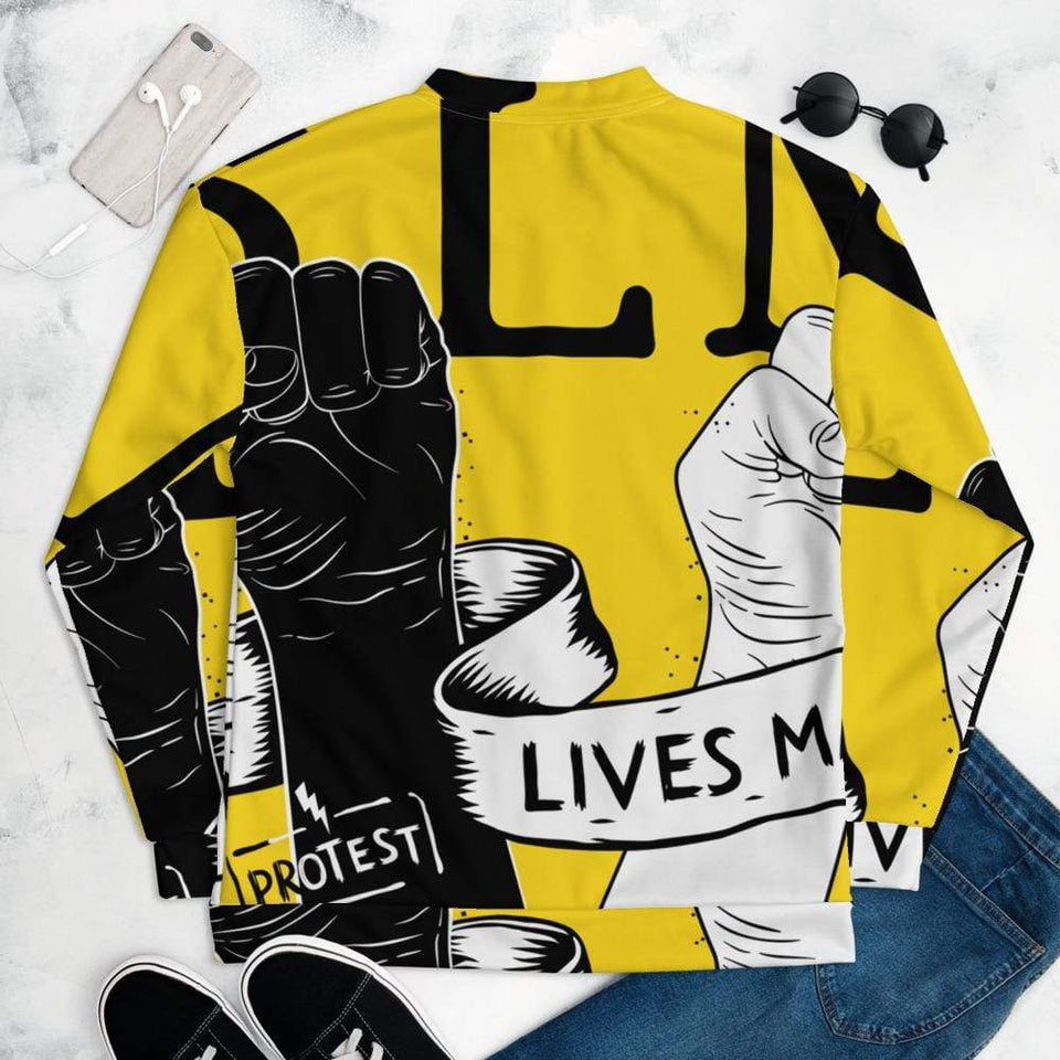 BLM Protest Bomber Jacket Political-Activist-Socialist-Fashion -Art-And-Design
