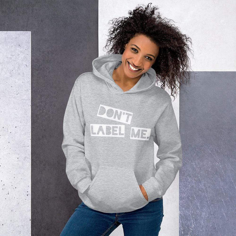 Don't Label Me Hoodie Sport Grey / S Political-Activist-Socialist-Fashion -Art-And-Design