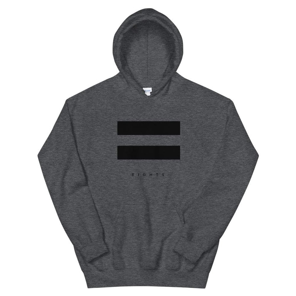 Equal Rights Hoodie Dark Heather / S Political-Activist-Socialist-Fashion -Art-And-Design