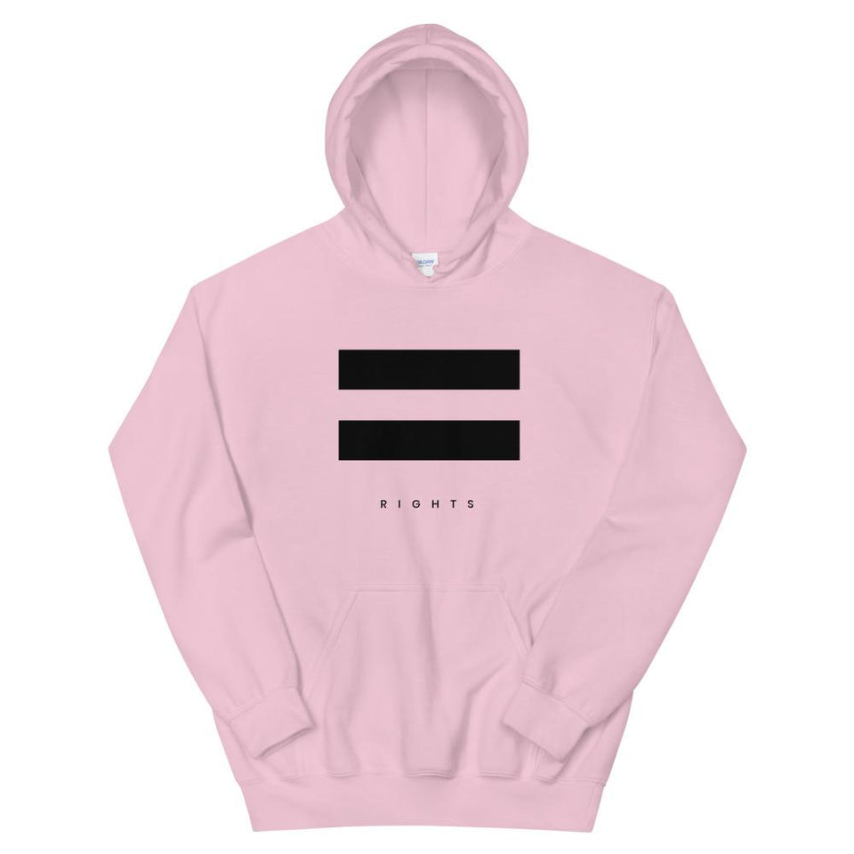 Equal Rights Hoodie Light Pink / S Political-Activist-Socialist-Fashion -Art-And-Design