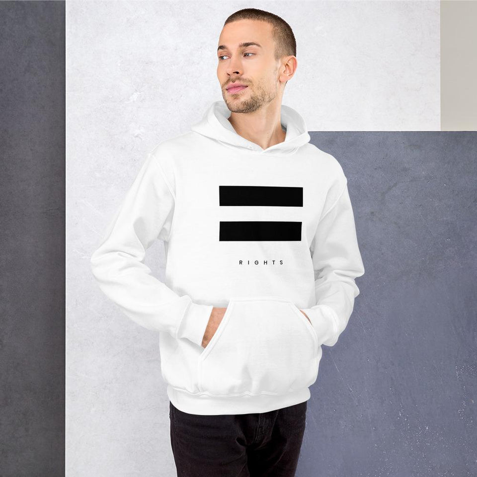 Equal Rights Hoodie Political-Activist-Socialist-Fashion -Art-And-Design