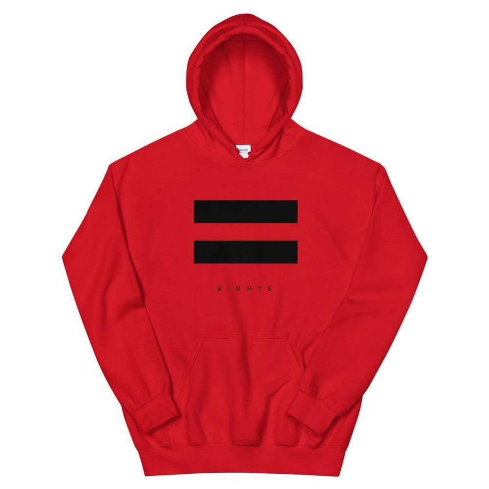 Equal Rights Hoodie Red / S Political-Activist-Socialist-Fashion -Art-And-Design