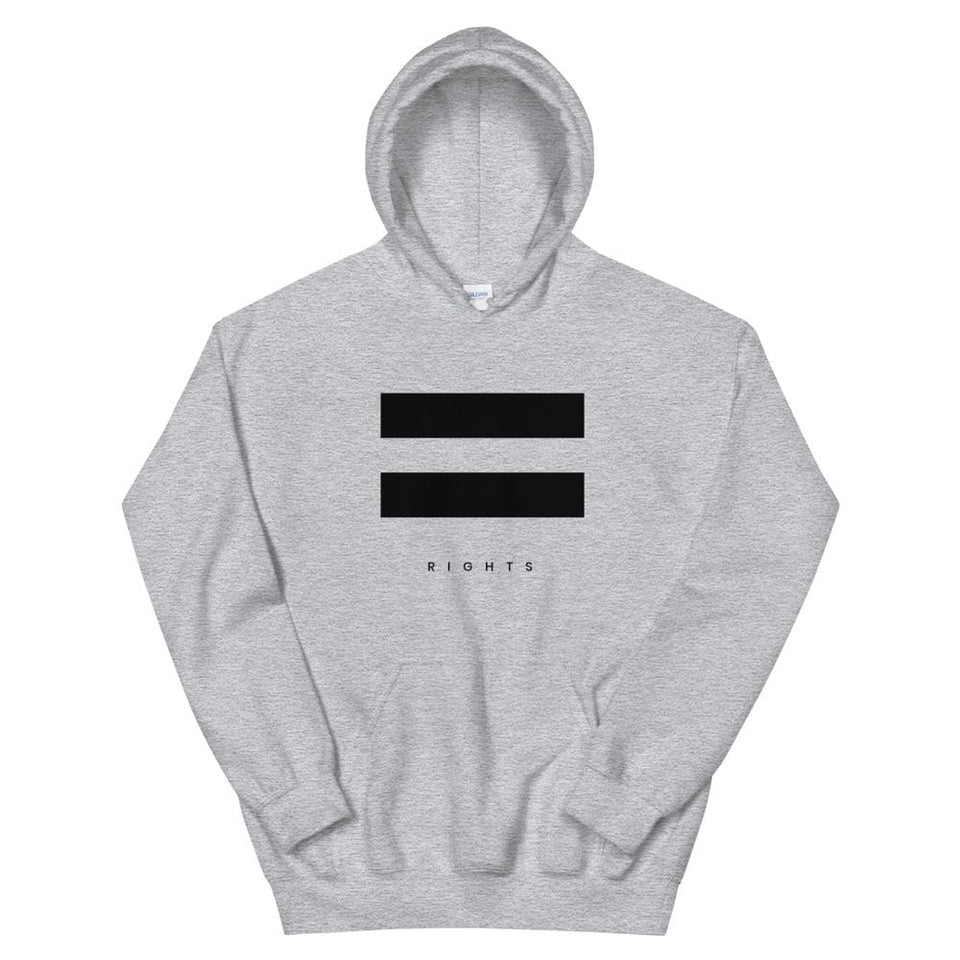 Equal Rights Hoodie Sport Grey / S Political-Activist-Socialist-Fashion -Art-And-Design