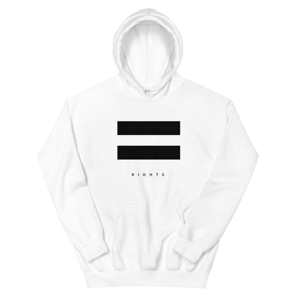 Equal Rights Hoodie White / S Political-Activist-Socialist-Fashion -Art-And-Design