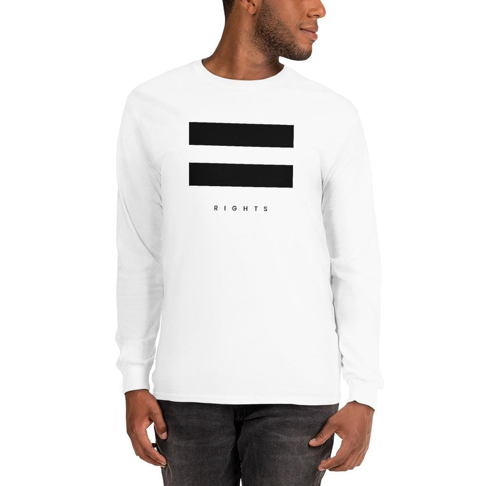 Equal Rights Long Sleeve Shirt Political-Activist-Socialist-Fashion -Art-And-Design