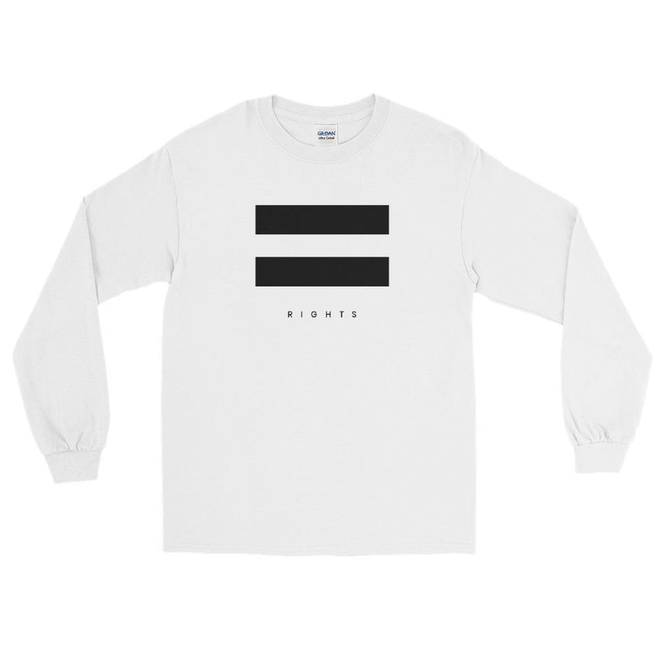 Equal Rights Long Sleeve Shirt White / S Political-Activist-Socialist-Fashion -Art-And-Design
