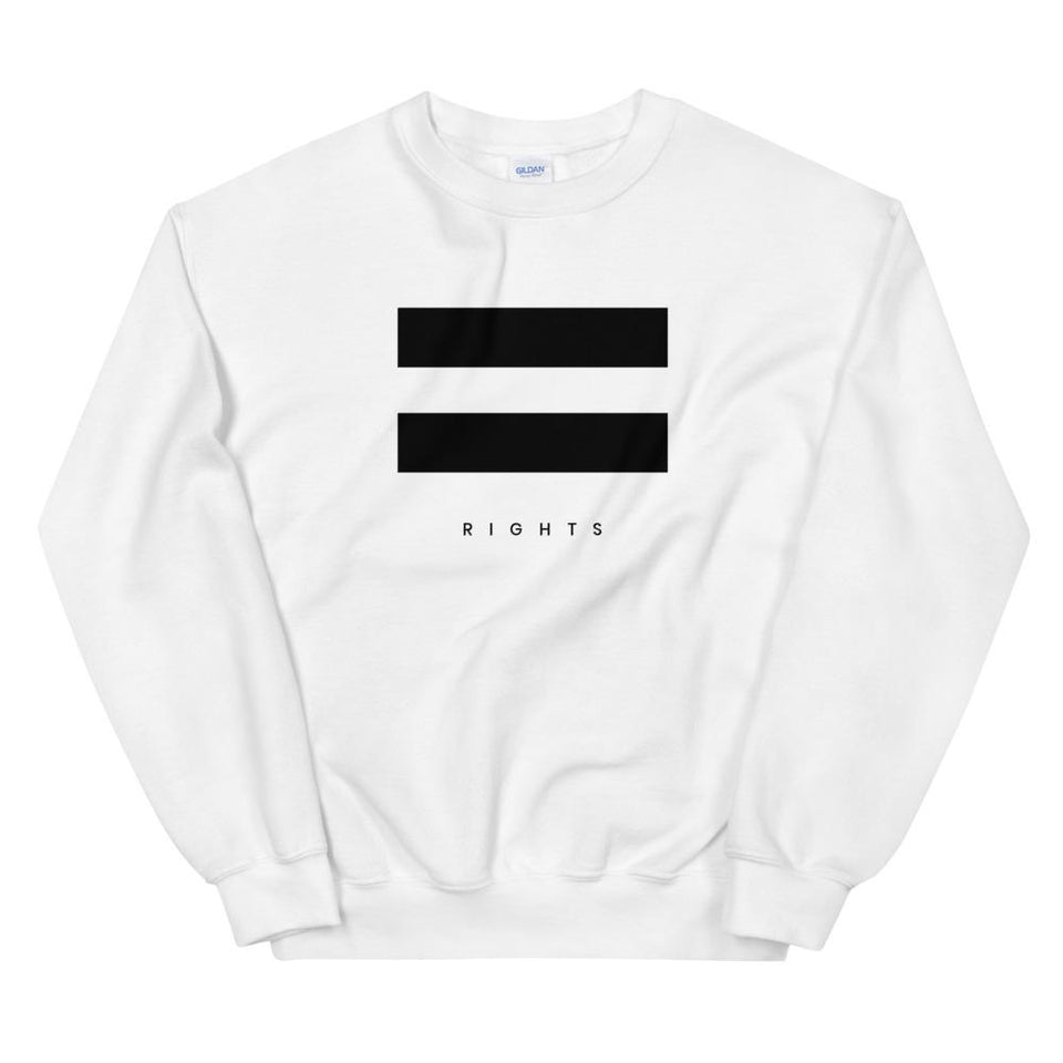 Equal Rights Sweatshirt White / S Political-Activist-Socialist-Fashion -Art-And-Design