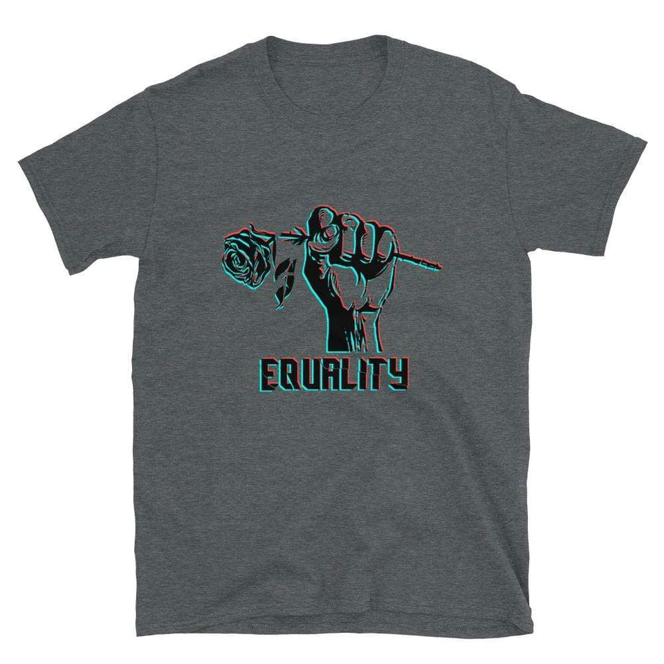 Equality Short-Sleeve T-Shirt Dark Heather / S Political-Activist-Socialist-Fashion -Art-And-Design