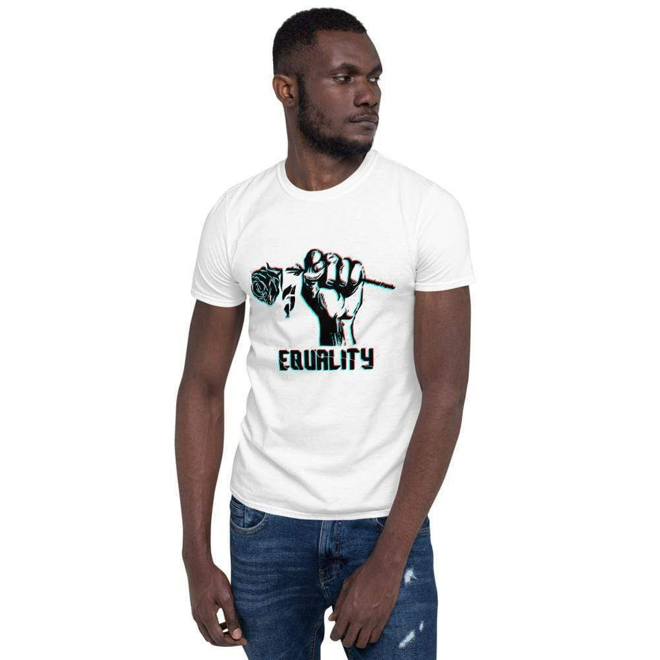 Equality Short-Sleeve T-Shirt Political-Activist-Socialist-Fashion -Art-And-Design