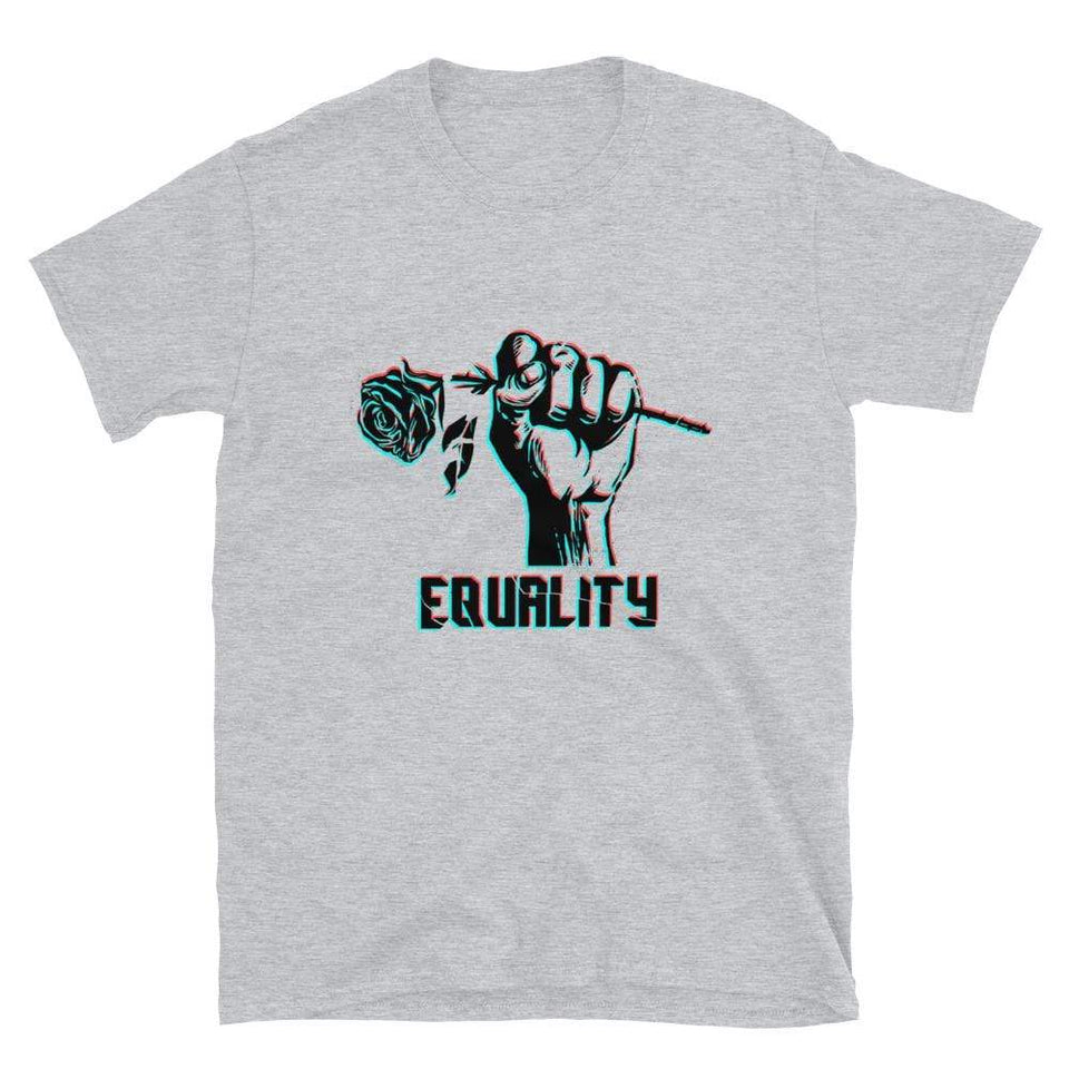 Equality Short-Sleeve T-Shirt Sport Grey / S Political-Activist-Socialist-Fashion -Art-And-Design