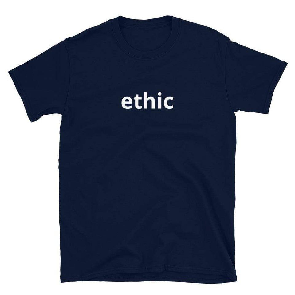 Ethic T-shirt Navy / S Political-Activist-Socialist-Fashion -Art-And-Design