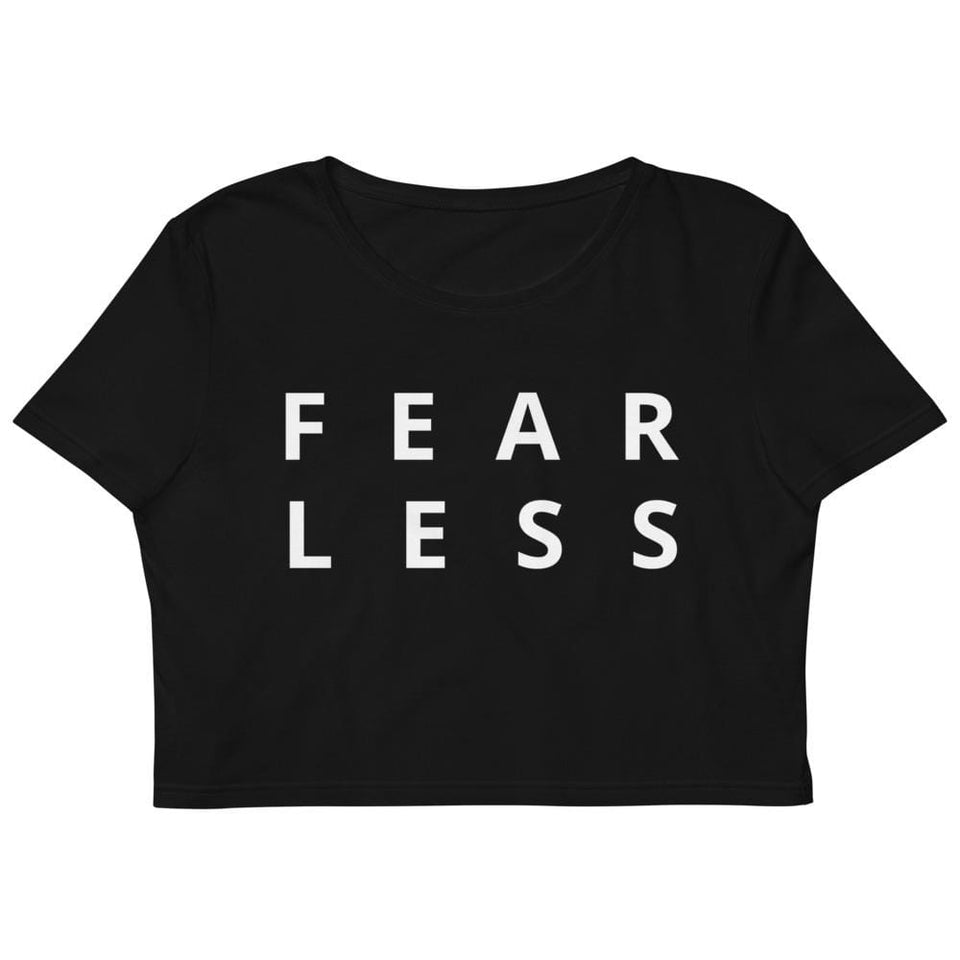 Fear Less Organic Crop Top Political-Activist-Socialist-Fashion -Art-And-Design