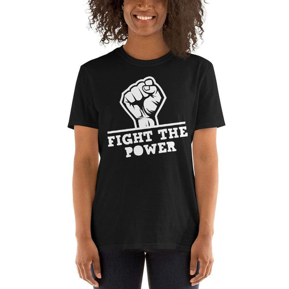 Fight The Power T-Shirt Political-Activist-Socialist-Fashion -Art-And-Design