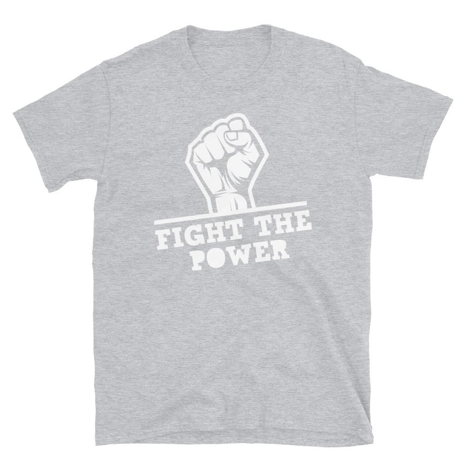Fight The Power T-Shirt Sport Grey / S Political-Activist-Socialist-Fashion -Art-And-Design