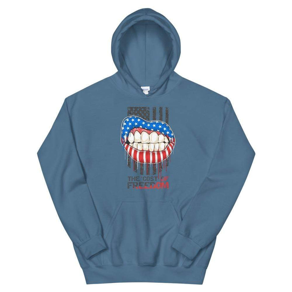 Freedom Hoodie Indigo Blue / S Political-Activist-Socialist-Fashion -Art-And-Design