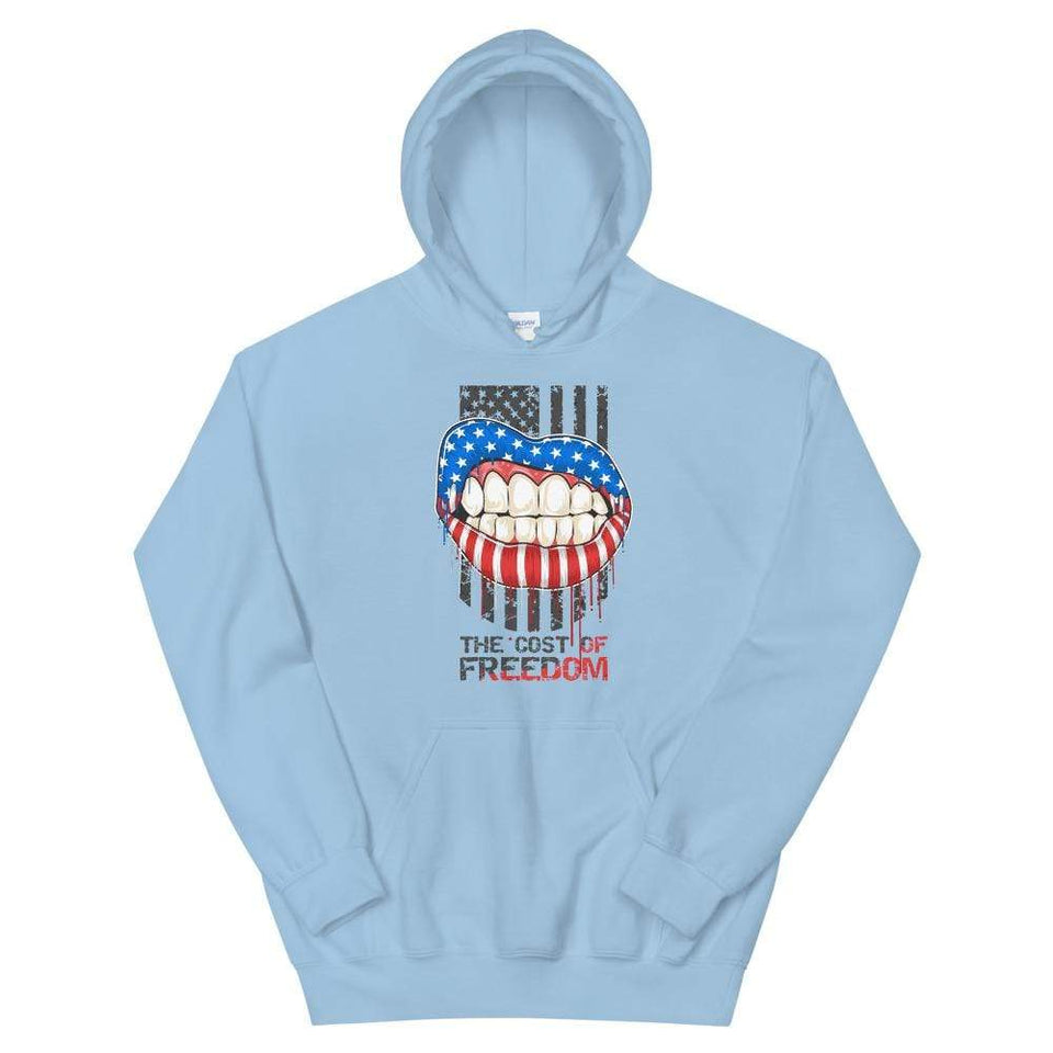 Freedom Hoodie Light Blue / S Political-Activist-Socialist-Fashion -Art-And-Design