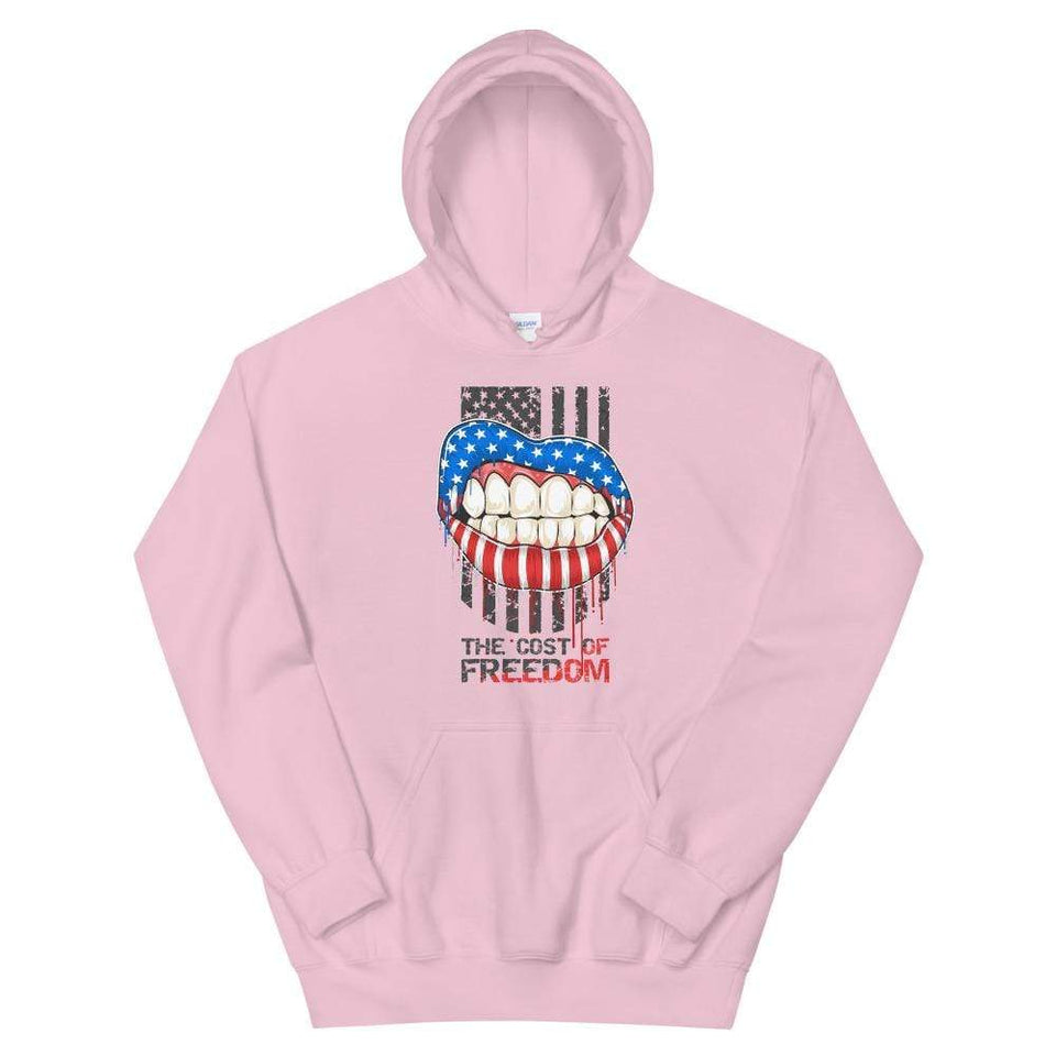 Freedom Hoodie Light Pink / S Political-Activist-Socialist-Fashion -Art-And-Design