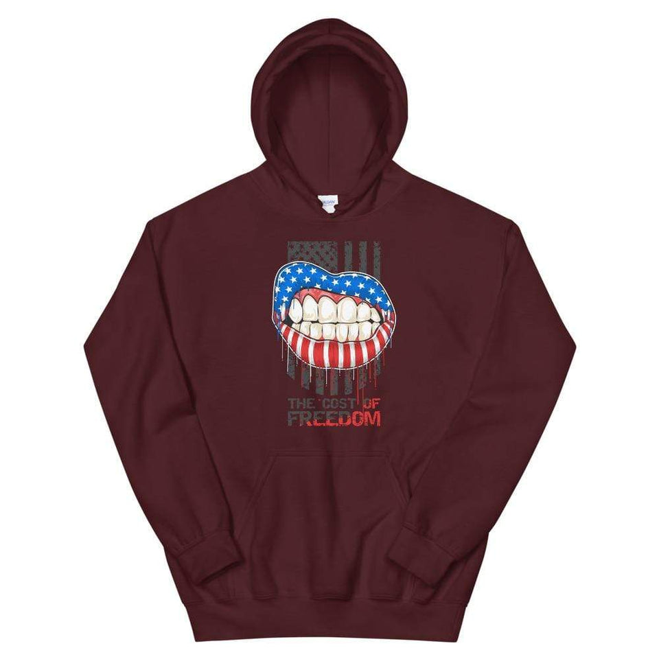 Freedom Hoodie Maroon / S Political-Activist-Socialist-Fashion -Art-And-Design