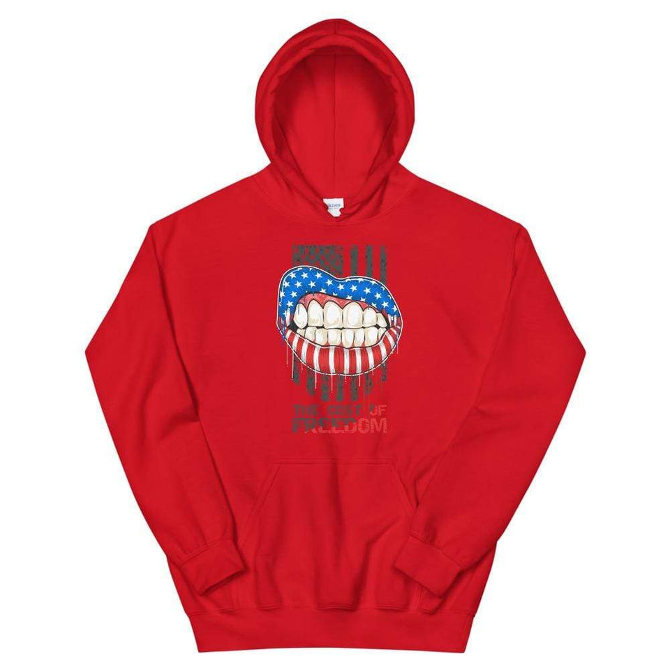 Freedom Hoodie Red / S Political-Activist-Socialist-Fashion -Art-And-Design