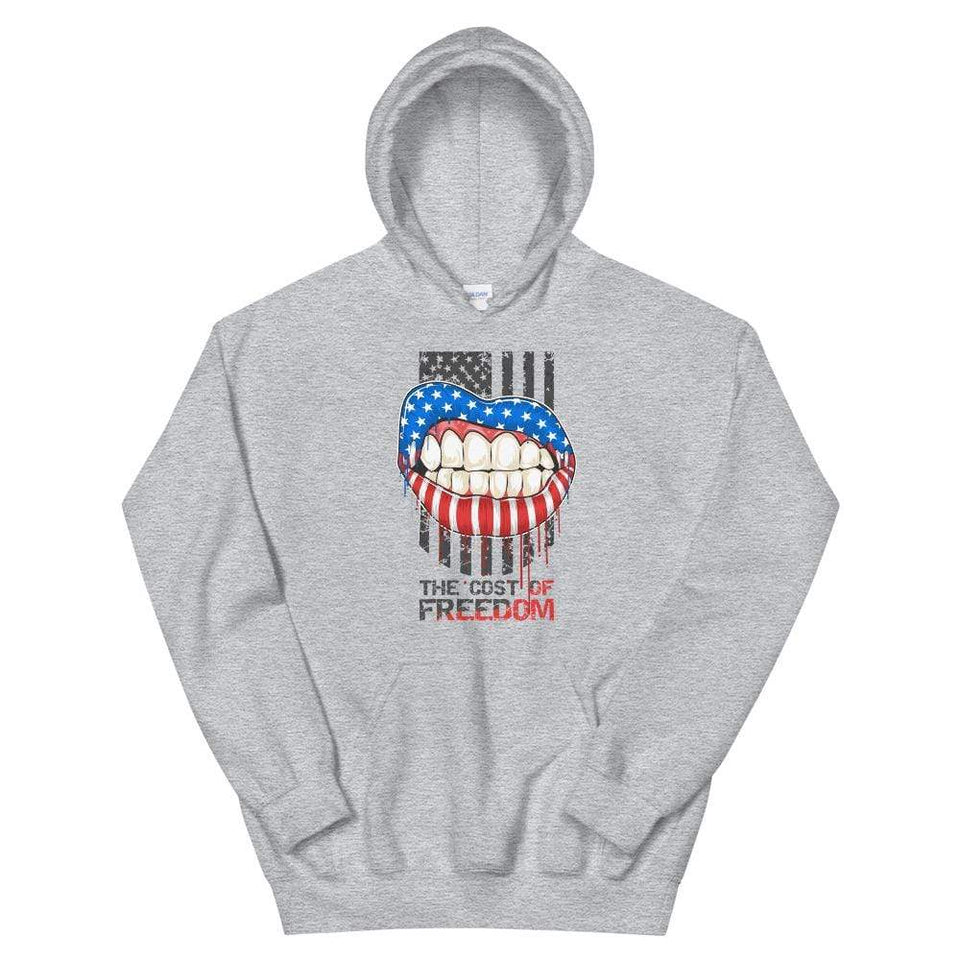 Freedom Hoodie Sport Grey / S Political-Activist-Socialist-Fashion -Art-And-Design