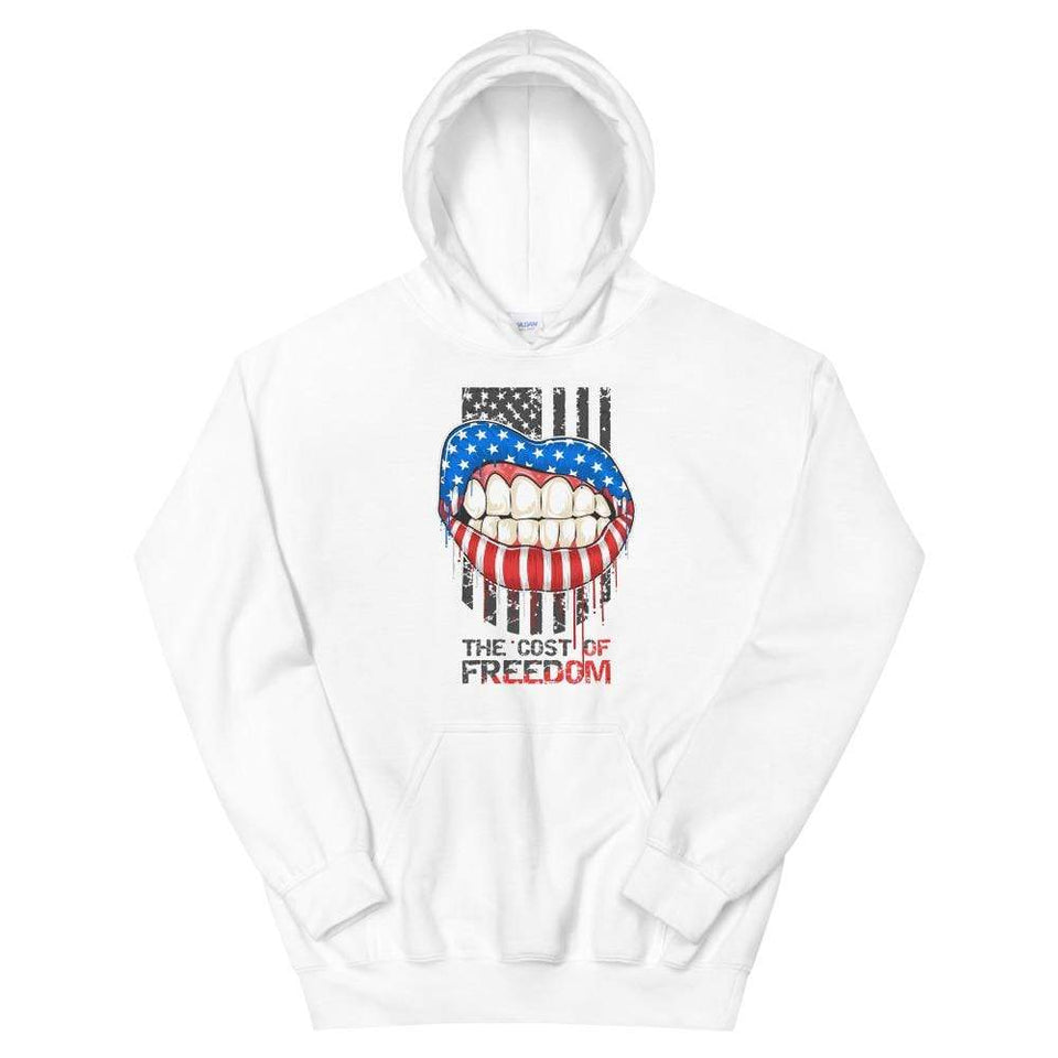 Freedom Hoodie White / S Political-Activist-Socialist-Fashion -Art-And-Design