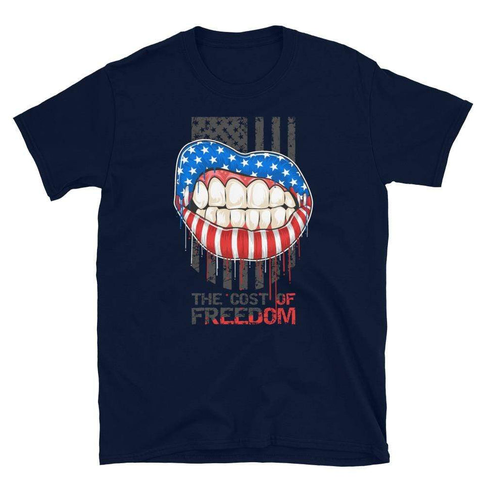 Freedom T-Shirt Navy / S Political-Activist-Socialist-Fashion -Art-And-Design