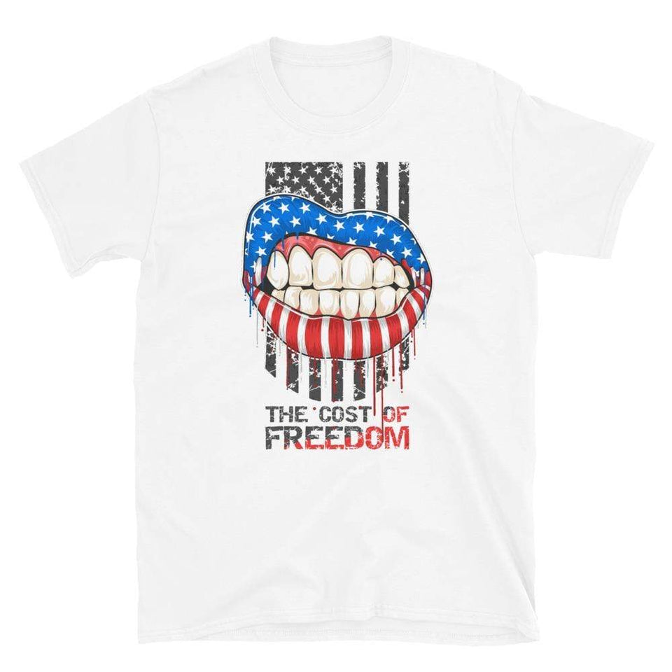 Freedom T-Shirt White / S Political-Activist-Socialist-Fashion -Art-And-Design