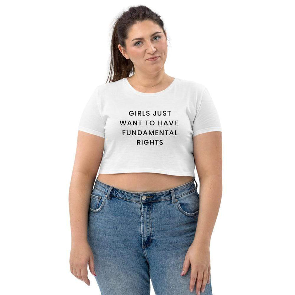 Girls Equal Right Protest Organic Crop Top Political-Activist-Socialist-Fashion -Art-And-Design