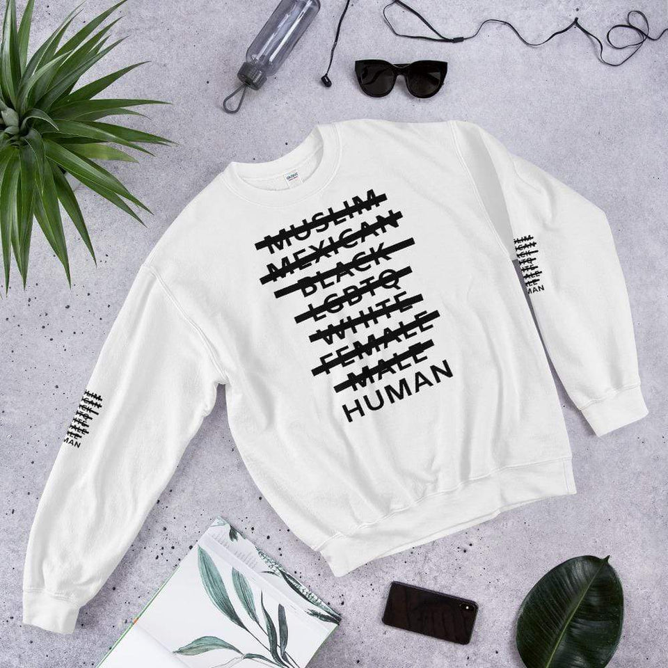 Human Sweatshirt Political-Activist-Socialist-Fashion -Art-And-Design