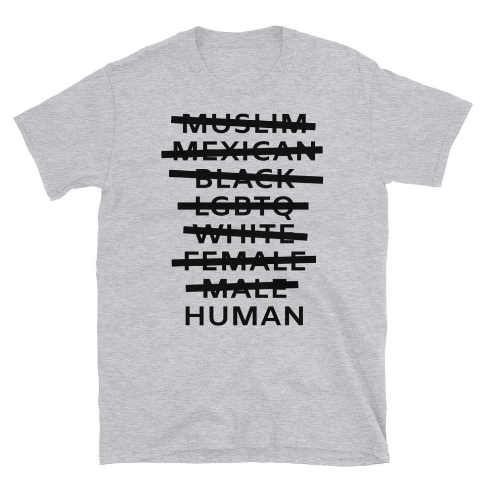 Human T-Shirt Sport Grey / S Political-Activist-Socialist-Fashion -Art-And-Design