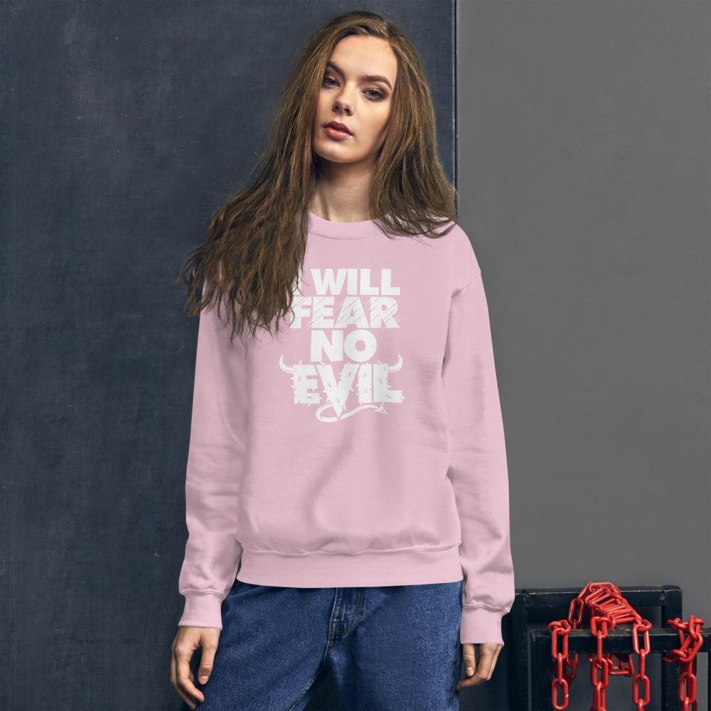 I will fear no evil unisex sweatshirt Light Pink / S Political Fashion