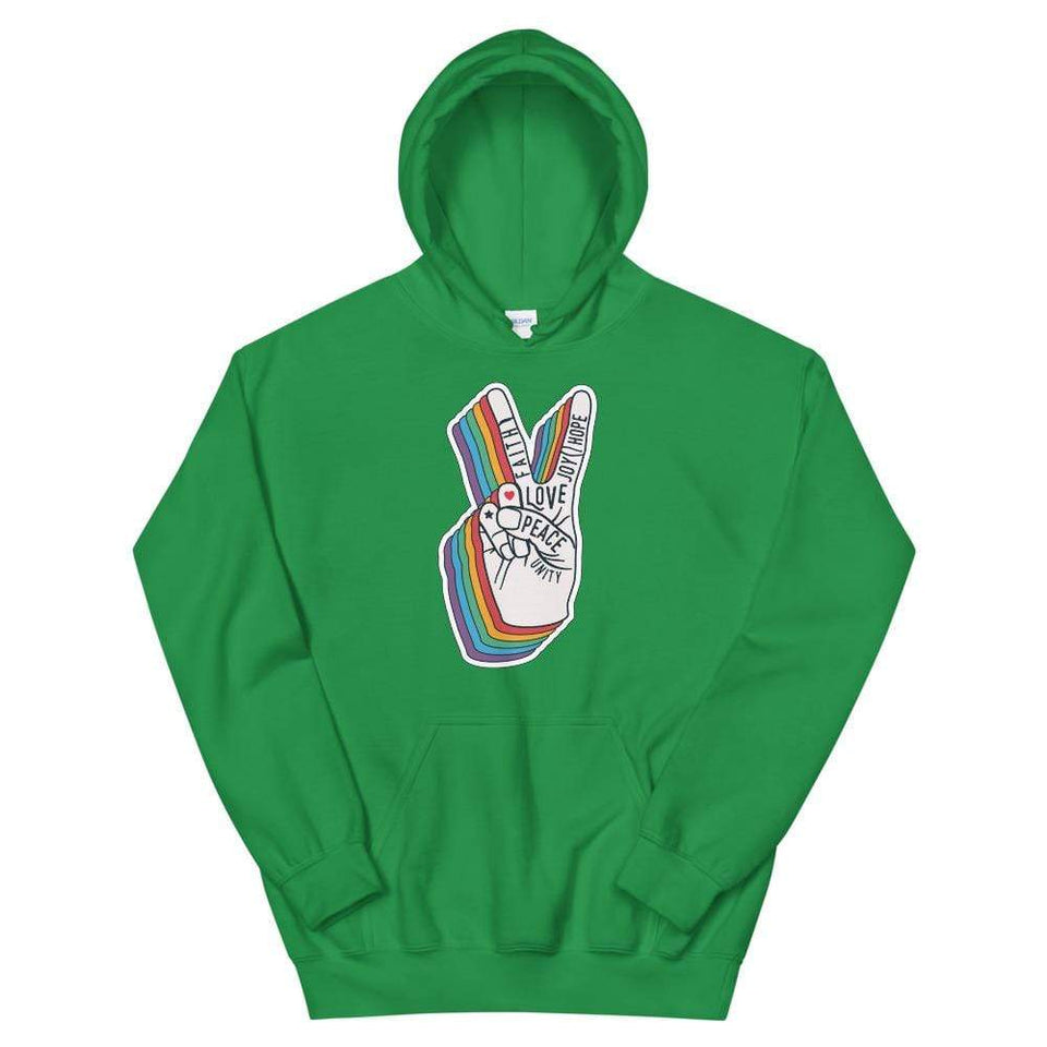 Peace Unisex Hoodie Irish Green / S Political-Activist-Socialist-Fashion -Art-And-Design