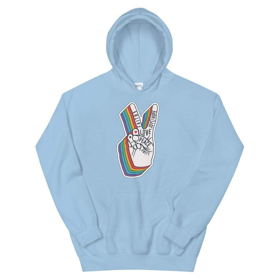 Peace Unisex Hoodie Light Blue / S Political-Activist-Socialist-Fashion -Art-And-Design